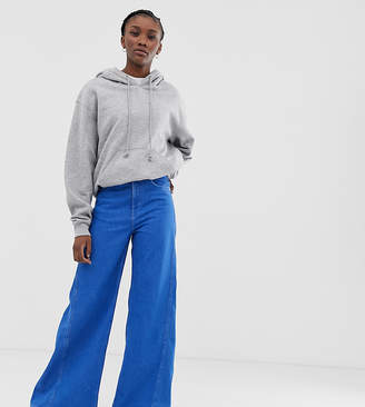 Weekday beat super wide leg jeans in bright blue