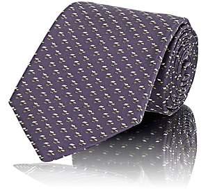 Fairfax MEN'S MICRO-DIAMOND-JACQUARD SILK TWILL NECKTIE - PURPLE 00505052649059