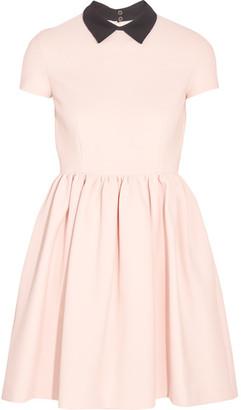 Miu Miu - Ribbed Stretch-jersey Mini Dress - Blush $1,140 thestylecure.com