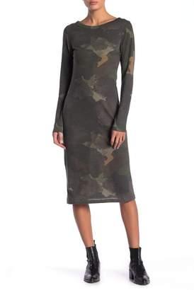 Alternative Long Sleeve Heathered Midi Tee Dress