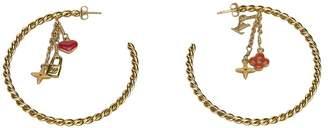 Louis Vuitton Vintage Sweet Monogram Creole Hoop Pierce Earrings