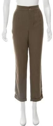 LK Bennett High-Rise Straight-Leg Pants