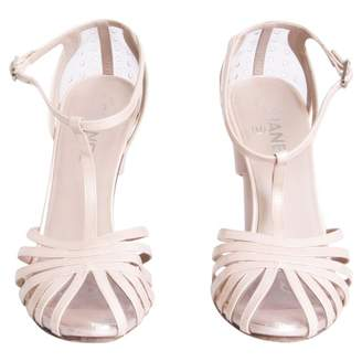 Chanel Pink Leather Sandals
