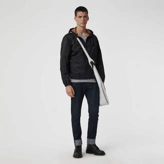 Burberry Flyweight Nylon Hooded Bomber Jacket , Size: 48, Black