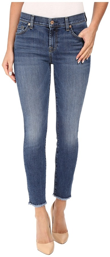 7 For All Mankind7 For All Mankind The Ankle Skinny w/ Raw Hem in Hyde Park