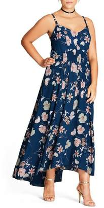 City Chic Naive Floral Maxi Dress