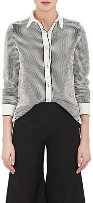 Giorgio Armani Women's Striped Cotton-Blend Shirt $2,295 thestylecure.com
