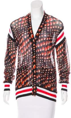 Jean Paul Gaultier Soleil Printed Knit Cardigan w/ Tags