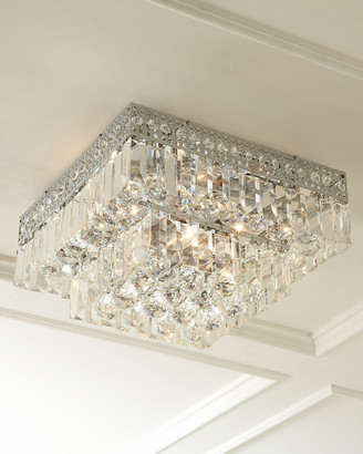Horchow Five-Light Crystal Flush-Mount Ceiling Fixture