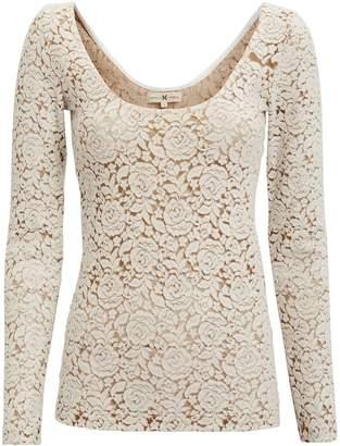 Nightcap Clothing Ivory Felt Lace Top