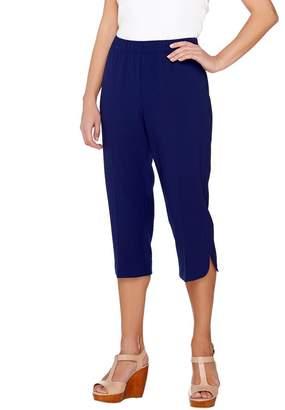 5ab2c9eaa82d6 Susan Graver Chelsea Stretch Comfort Waist Pull-On Capri Pants