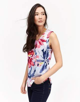Joules Silver Whitstable Floral Alyse Shell Top