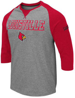 b89a6714 Colosseum Men Louisville Cardinals Team Patch Three-Quarter Sleeve Raglan T- Shirt