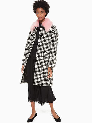 Kate Spade Houndstooth wool coat