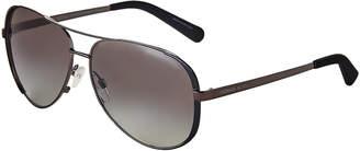 Michael Kors 101311 Gunmetal & Black Aviator Sunglasses