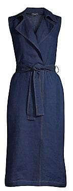 Lafayette 148 New York Women's Florence Linen Sleeveless Wrap Dress