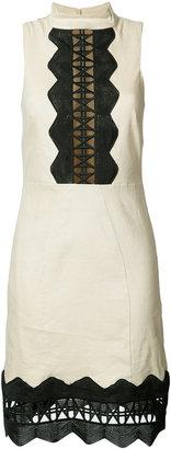Nicole Miller geometric cut-out detail dress $355 thestylecure.com