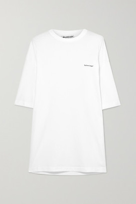 ea9ac7657 Balenciaga Oversized Printed Cotton-jersey T-shirt - White