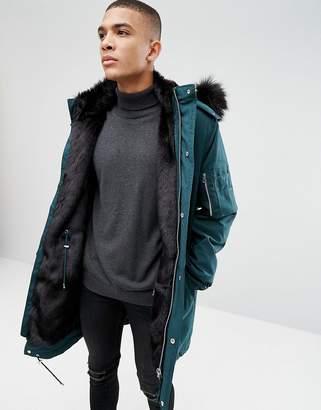 30f40a2da Faux Fur Lined Parka Mens - ShopStyle UK