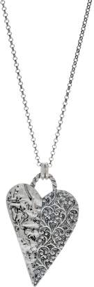 Or Paz Sterling Silver Heart Shaped Pendant with Chain