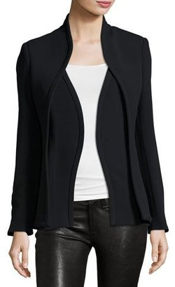 Brandon Maxwell Layered Suit Jacket, Black $2,195 thestylecure.com