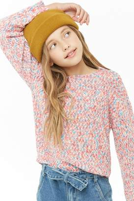 Forever 21 Girls Multicolor Sweater (Kids)