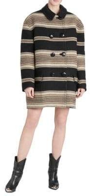 Isabel Marant Hilda Wool-Blend Stripe Coat