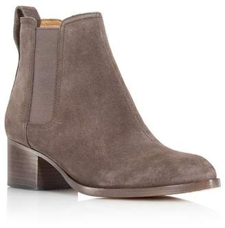 Rag & Bone Women's Walker Almond Toe Suede Mid-Heel Booties