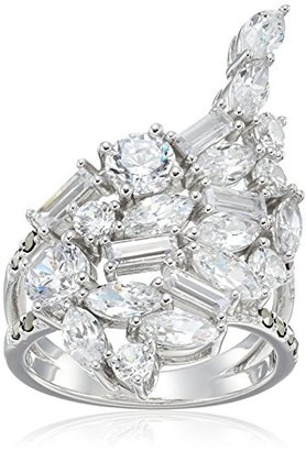 Judith Jack Sterling Silver/Swarovski Marcasite Cubic Zirconia Cluster Ring, Size 7 $150 thestylecure.com