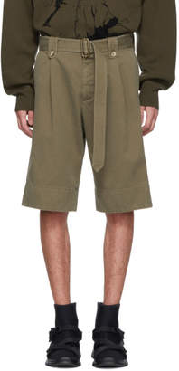 J.W.Anderson Khaki Washed Belted Shorts