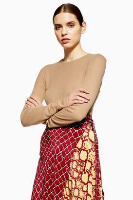 Topshop Long Sleeve Ribbed T-Shirt by Boutique