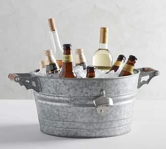 Pottery Barn Rivet Galvanized Party Bucket, Small