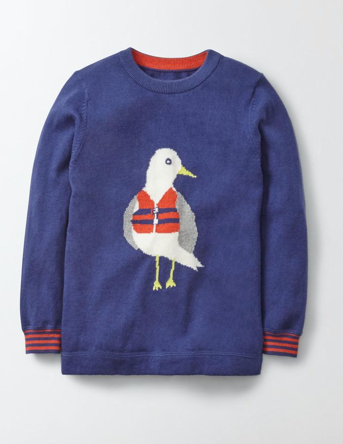 BodenLogo Crew Sweater