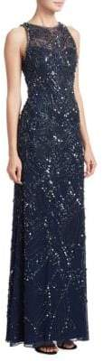 Jenny Packham Silk Beaded Gown