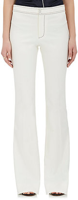 Derek Lam 10 Crosby Women's Topstitched Cotton-Blend Flare Pants $345 thestylecure.com
