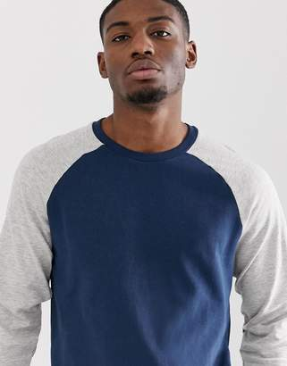ONLY & SONS sweatshirt with contrast raglan sleeve