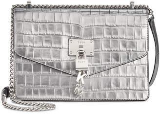 DKNY Elissa Croc Flap Shoulder Bag