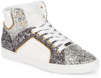 Alessandro Dell'Acqua Alessandro Dell''acqua Embellished High-Top Leather Sneaker