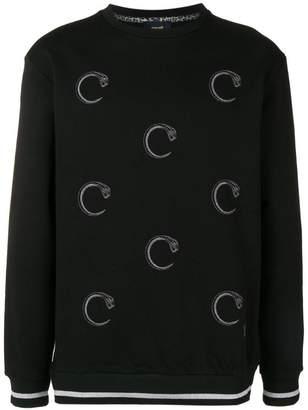 Class Roberto Cavalli snake prints sweatshirt