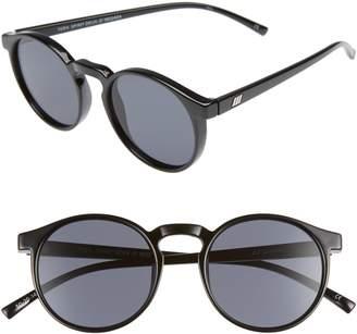 Le Specs Teen Spirit Deaux 50mm Round Sunglasses