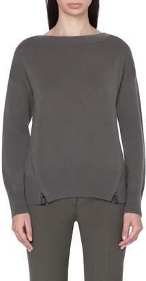 Akris Zip Detail Cashmere Sweater