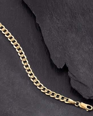 Fashion World Gent's 9ct Gold Hollow Curb Bracelet