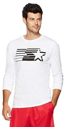 Starter Men's Long Sleeve Shooting Star Logo T-Shirt