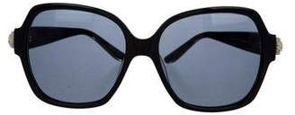 Oscar de la Renta Tinted Floral Sunglasses