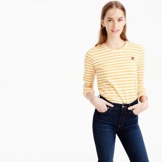 Comme des Garçons® striped heart T-shirt $128 thestylecure.com