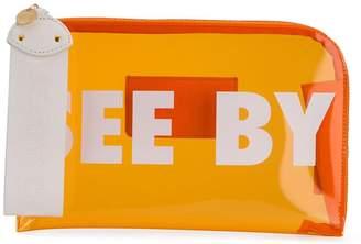 See by Chloe logo print clutch