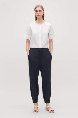 Cos ELASTICATED STRETCH-TWILL TROUSERS