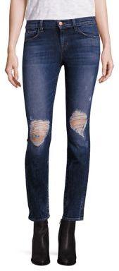 J BrandJ BRAND 620 Distressed Super Skinny Jeans