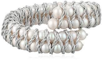 Bella Pearl Double Row Bangle Bracelet