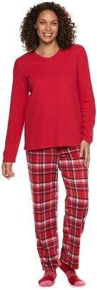 Croft & Barrow Women's Fleece 3-piece Pajama Set